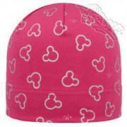 Dívčí čepice s potiskem Micky růžová RDX