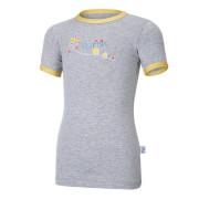 Tričko tenké KR obrázek Outlast® - šedý melír/oliva