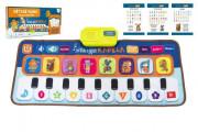 Elektronická hrací podložka pianko Zvířátka a jejich kapela 80x37 cm