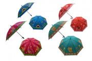 Deštník 66 cm vystřelovací s píšťalkou