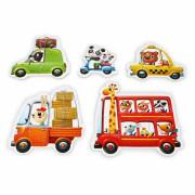 Puzzle 5 obrázků 20 dílků Puzzlika - Auta