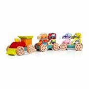 Vláček s auty - dřevěná skládačka Cubika
