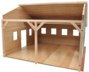 Garáž dřevěná farma pro traktory 55x53x38 cm