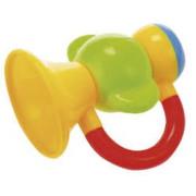 Chrastítko trumpeta 9cm Baby's Happiness 3m+