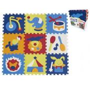 Pěnové puzzle 9 ks Cirkus 30 x 30 cm