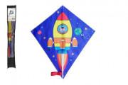 Drak létající nylon 70x60 cm kosmická raketa