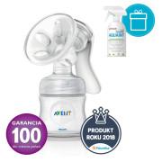 PHILIPS AVENT Odsávačka mateřského mléka Natural se zásobníkem 125 ml + AQUAINT 500 ZDARMA