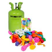 Hélium na 30 balónků + 30 barevných balónků sada BalloonGaz