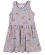 Šaty dívčí bavlněné Minoti 6TDRESS 12 šedá