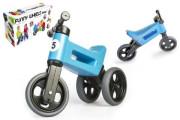 Odrážedlo FUNNY WHEELS Rider Sport modré 2v1, výška sedla 28/30 cm