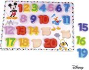 Disney Velké dřevěné puzzle čísla Mickey