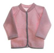 Kabátek svetrovina bez kapuce MKcool Růžová