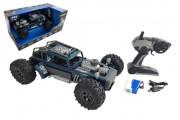 Auto RC buggy vypouštějící páru 38 cm modré 2,4GHz na bat. + dobíjecí pack