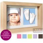 3D Memories odlévací sada baby pro 3D odlitek ručiček a nožiček s hlubokým dvojrámečkem