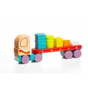 Kamion s geometrickými tvary - dřevěná skládačka Cubika