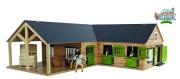 Stáj pro koně dřevěná 68x77x27cm 1:24