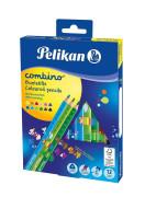 Pelikan - Pastelky Combino 12ks se zvířátky
