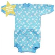 Baby neoprén-body - modré květy