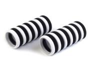 Gumičky do vlasů 24 ks černo-bílé