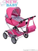 Dětský kočárek pro panenky 2v1 New Baby - RŮŽENKA
