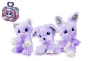 Zvířátko Fur Balls plyšový Touláček Violet pejsek/kočka/králík