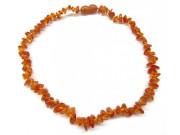 Jantarové korálky pro děti proti bolesti leštěné zlatý med 32 cm