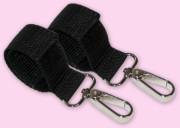 Karabiny k bezpečnému zavěšení tašky na rukojeť kočárku KOV