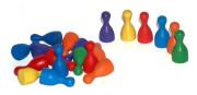 Figurky dřevo 25mm 24ks 6 barev