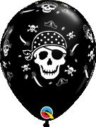 "Balónek Qualatex 11"" potisk ""Pirát"" (6 ks v balení)"