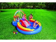 Dětské Hrací centrum Duha Rainbow Ring Play Center 297x193x135 cm Intex 57453