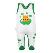 Kojenecké bavlněné dupačky New Baby Liška zelená