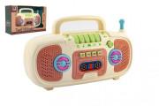 Rádio dětské plast na baterie se zvukem se světlem