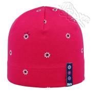 Dívčí nasazovací čepice Kytičky Růžová RDX