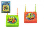 Magnetická hra ryby/rybář 10x10 cm na natažení