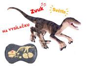 R/C dinosaurus 45 cm hnědý 2,4GHz se světlem a zvukem