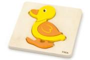 Dřevěné puzzle pro nejmenší - kačenka Viga