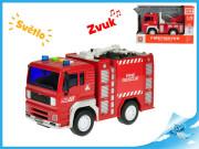 Auto hasičské 1:20 na setrvačník se světlem a zvukem