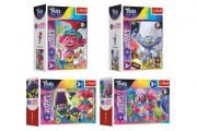 Minipuzzle miniMaxi 20 dílků V hudebním světě Trollů 4 druhy v krabičce 11x8x4cm 24ks v bo