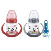 Lahvička na učení Mickey s kontrolou teploty, 150 ml Nuk