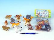 Zvířátka safari/ZOO mláďata plast 6,5-9cm 12ks v sáčku