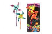 Větrník 2ks barevný plast průměr 18cm