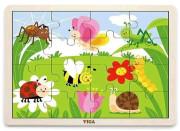 Dřevěné puzzle 16 dílků - příroda
