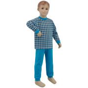 Bavlněné pyžamo tyrkysové kostky Esito