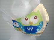 Látková respirační rouška - pro děti 3 - 6 let jednovrstvá sovičky