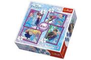 Puzzle 4v1 Ledové Království Disney