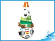 Fotbalové kužely 18cm 4ks s míčem 12cm 10m+