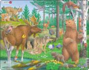 Puzzle Zvířata v lese 29 dílků