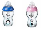 Kojenecká láhev C2N 250 ml skleněná potisk 0m+