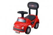 Odrážedlo auto plast červené výška sedadla 20 cm