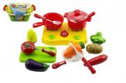 Nákupní košík s ovocem a zeleninou + doplňky krájecí